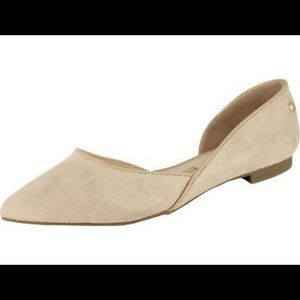 New! Tahari Izabelle Womens Slip On Pointed Toe D'Orsay Tan Suede Flats